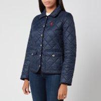 Polo Ralph Lauren Women's Logo Quilt Padded Jacket - Aviator Navy - XS