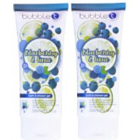 Bubble T Soapscription 2 x Blueberry & Lime Shower Gel 200ml