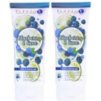 Bubble T Soapscription 2 x Blueberry & Lime Shower Gel 200ml