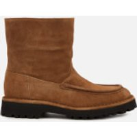 KENZO Women's K-Mount Suede/Shearling Lined Boots - Brown - UK 3.5