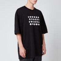 Maison Margiela Men's Oversized Punched Holes T-Shirt - Black - IT 48/M