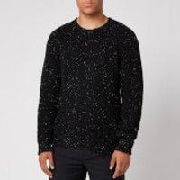 Maison Margiela Men's Distressed Speckled Wool Blend Jumper - Black - M