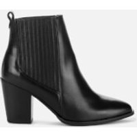 Clarks Women's West Lo Leather Heeled Ankle Boots - Black - UK 5