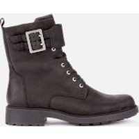 Clarks Women's Orinoco 2 Leather Lace Up Boots - Black - UK 3