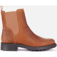 Clarks Women's Orinoco 2 Top Leather Chelsea Boots - Brown Snuff - UK 7