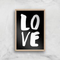 The Motivated Type LOVE Hand Lettered Giclee Art Print - A3 - Wooden Frame