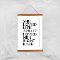 The Motivated Type She Loved Life Giclee Art Print - A3 - Wooden Hanger