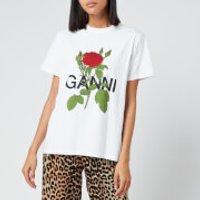 Ganni Women's Rose T-Shirt - White - S