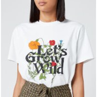 Ganni Women's Wild Flowers T-Shirt - White - S