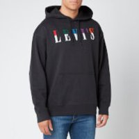 Levi's Men's Relaxed Graphic Hoodie - Jet Black - XL