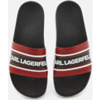 Karl Lagerfeld Men's Kondo Contrast Slide Sandals - Red - UK 8