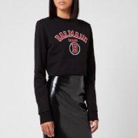 Balmain Women's Short Collegiate Logo Sweatshirt - Black - L