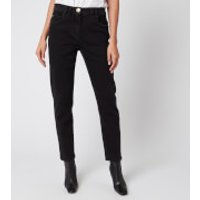 Balmain Women's Low-Rise Slim Jeans with Patch - Black - FR 38/UK10