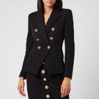 Balmain Women's 6 Button Grain De Poudre Jacket - Black - FR 40/UK12