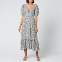 Faithfull the Brand Women's Gabriela Midi Dress - Blance Animal Print - L