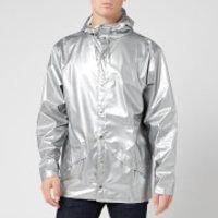 RAINS Jacket - Silver - M-L