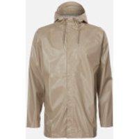 RAINS Short Coat - Shiny Beige - L-XL