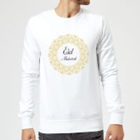 Eid Mubarak Golden Wreath Sweatshirt - White - L - White