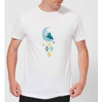 Eid Mubarak Moon Charm Men's T-Shirt - White - 4XL - White