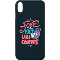 Save The Fat Unicorns Phone Case for iPhone and Android - iPhone 8 - Snap Case - Matte