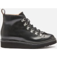 Grenson Men's Bobby Leather Hiking Style Boots - Black - UK 8
