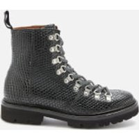 Grenson Women's Nanette Snake Print Hiking Style Boots - Black - UK 3