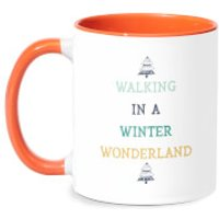 Walking In A Winter Wonderland Mug - White/Orange