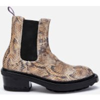 Eytys Nikita Leather Python Print Chelsea Boots - Multi - UK 4.5