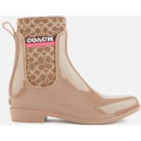 Coach Women's Rivington Signature Knit Rain Boots - Otter - UK 3