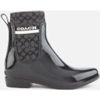 Coach Women's Rivington Signature Knit Rain Boots - Black - UK 5