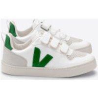 Veja Toddlers' V-10 Velcro Trainers - White/Emeraude - UK 7.5 Toddler