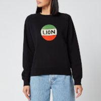 Bella Freud Women's Lion Badge Flock Sweatshirt - Black/Multi - M