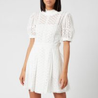 Self-Portrait Women's White Cotton Broderie Mini Dress - White - UK 10