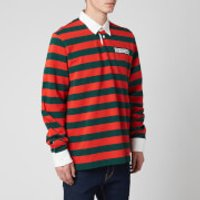 Dsquared2 Men's Slouch Fit Striped Rugby Shirt - Orange/Green - S