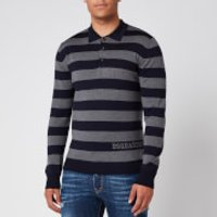 Dsquared2 Men's Stripe Rugby Shirt - Grey/Blue - XL