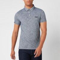 Superdry Men's Orange Label Jersey Polo Shirt - Navy Feeder - S