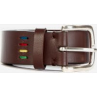 PS Paul Smith Men's Mini Zebra Leather Belt - Brown - W32