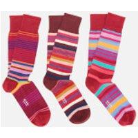 PS Paul Smith Men's Mixed Pack Socks - Burgundy