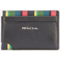 PS Paul Smith Men's Signature Stripe Credit Card Wallet - Black