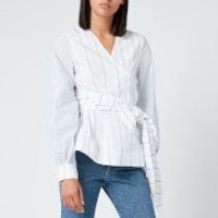 Ganni Women's Shirting Cotton Wrap Shirt - Block Colour - EU 40/UK 12