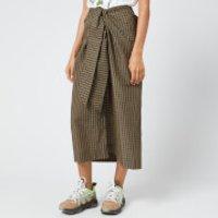 Ganni Women's Seersucker Check Midi Skirt - Kalamata - EU 34/UK 6