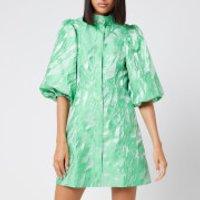 Ganni Women's Jacquard Mini Dress - Island Green - EU 40/UK 12