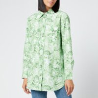 Ganni Women's Printed Cotton Poplin Shirt - Island Green - EU 36/UK 8