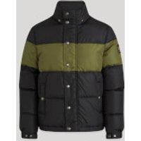 Belstaff Men's Dome Down Jacket - Black/Sage - IT 48/M