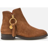 See By Chloe Women's Suede Flat Ankle Boots - Brown - UK 6