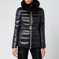 Herno Women's Fur Collar 3/4 Belt Travel Coat - Nero - IT 42/ UK 10