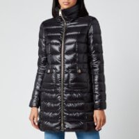 Herno Women's Maria Iconic Long Quilted Fitted Coat - Nero - IT 42/ UK 10