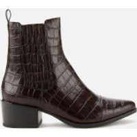 Vagabond Women's Marja Embossed Leather Western Boots - Brown - UK 3