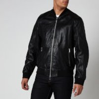 Armani Exchange Men's Leather Blouson Jacket - Black - L