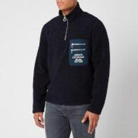 Armani Exchange Men's Fleece Quarter Zip Sweatshirt - Deep Navy - XL